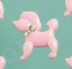 Light Pink Poodle Cabochons - WhimsyandPOP