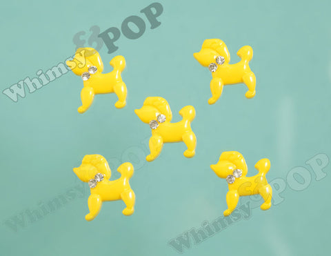 Yellow Poodle Cabochons - WhimsyandPOP