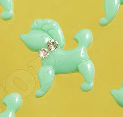 Mint Green Poodle Cabochons - WhimsyandPOP