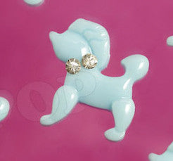 Light Blue Poodle Cabochons - WhimsyandPOP