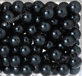 DARK NAVY BLUE 20mm Metallic Pearl Gumball Beads - WhimsyandPOP