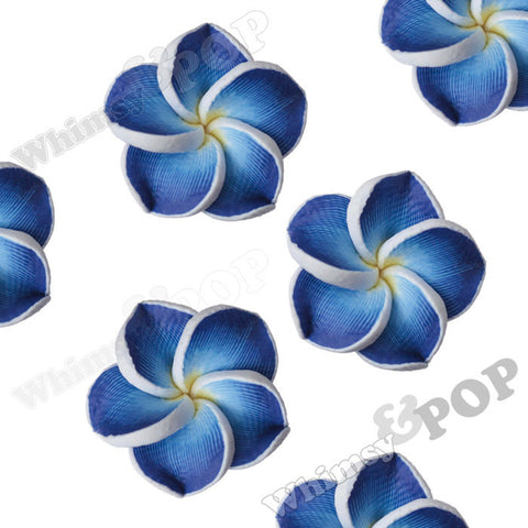 ROYAL BLUE 15mm Plumeria Flower Beads