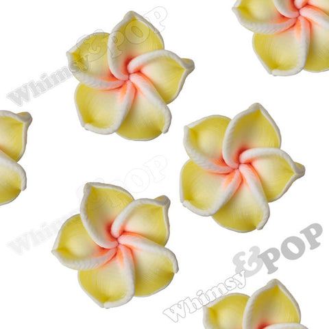 YELLOW 15mm Plumeria Flower Beads - WhimsyandPOP