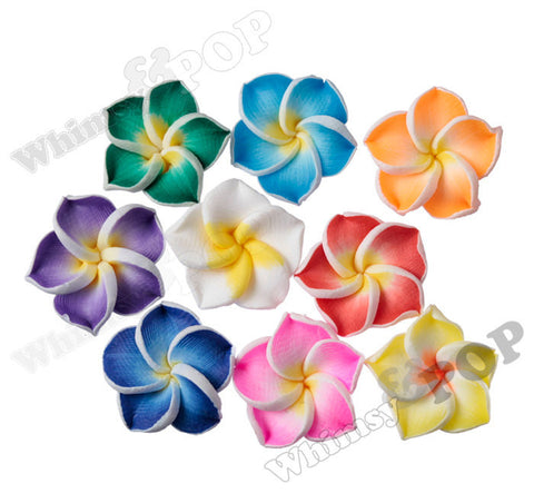 MIXED Color 15mm Plumeria Flower Beads