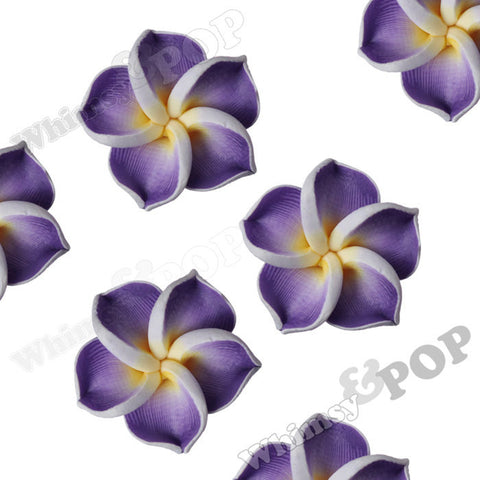 PURPLE 15mm Plumeria Flower Beads - WhimsyandPOP