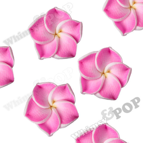 PINK 15mm Plumeria Flower Beads - WhimsyandPOP