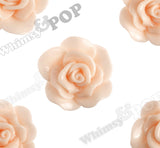 PEACH 28mm Begonia Flower Cabochons - WhimsyandPOP