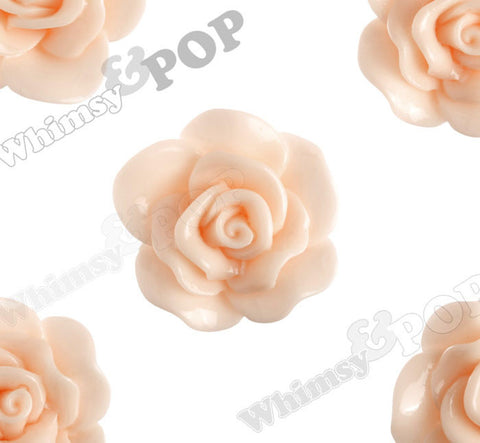 PEACH 28mm Begonia Flower Cabochons