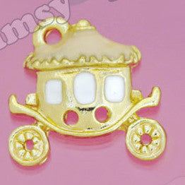 Gold Tone Fairytale Princess Coach Charm - WhimsyandPOP