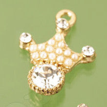 Princess Crown Crystal Rhinestone Charm