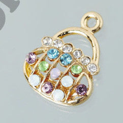 Colorful Rhinestone Purse Charm - WhimsyandPOP