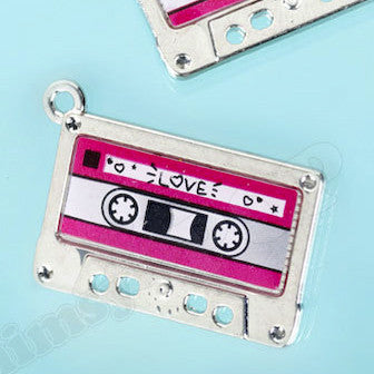 Old School Cassette Tape Charm - WhimsyandPOP