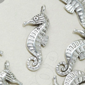 Silver Seahorse Charms - 3 Pack - WhimsyandPOP