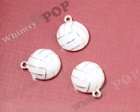 White Volleyball Charm - WhimsyandPOP