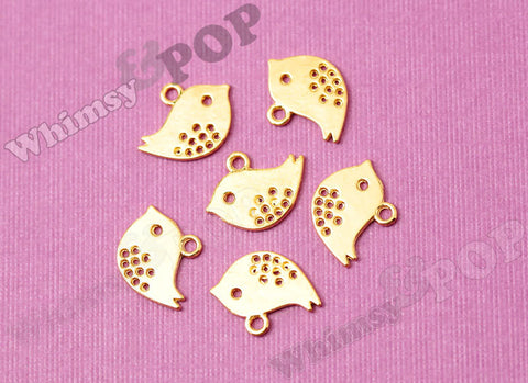 Baby Bird Gold Tone Charms - WhimsyandPOP