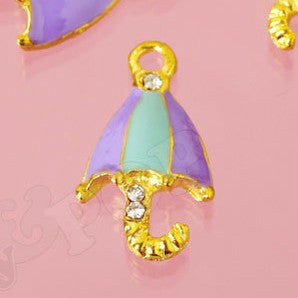 Purple and Blue Umbrella Charm - WhimsyandPOP