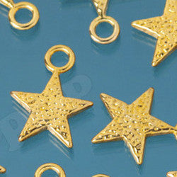 Shiny Star Gold Tone Charms