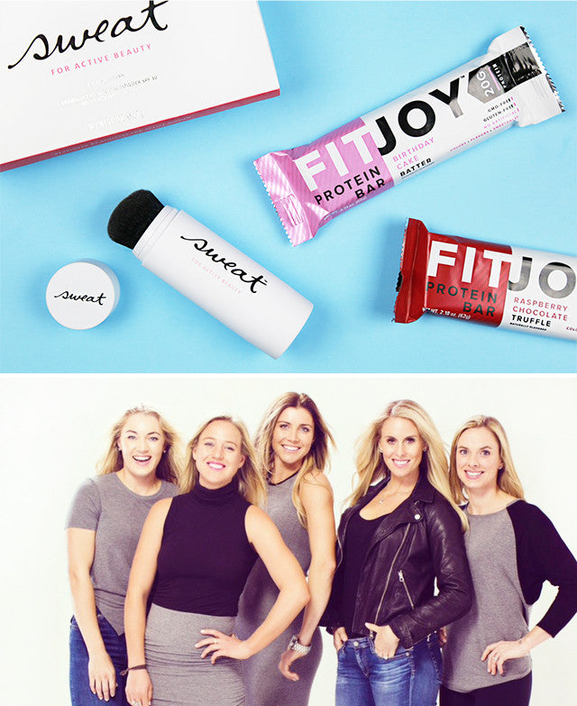 FitJoy Protein Bars and Sweat cosmetics