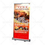 "33"" x 80"" Retractable Banner Stand - print"