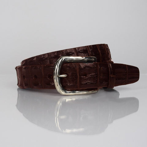 Torino crocodile brown belt