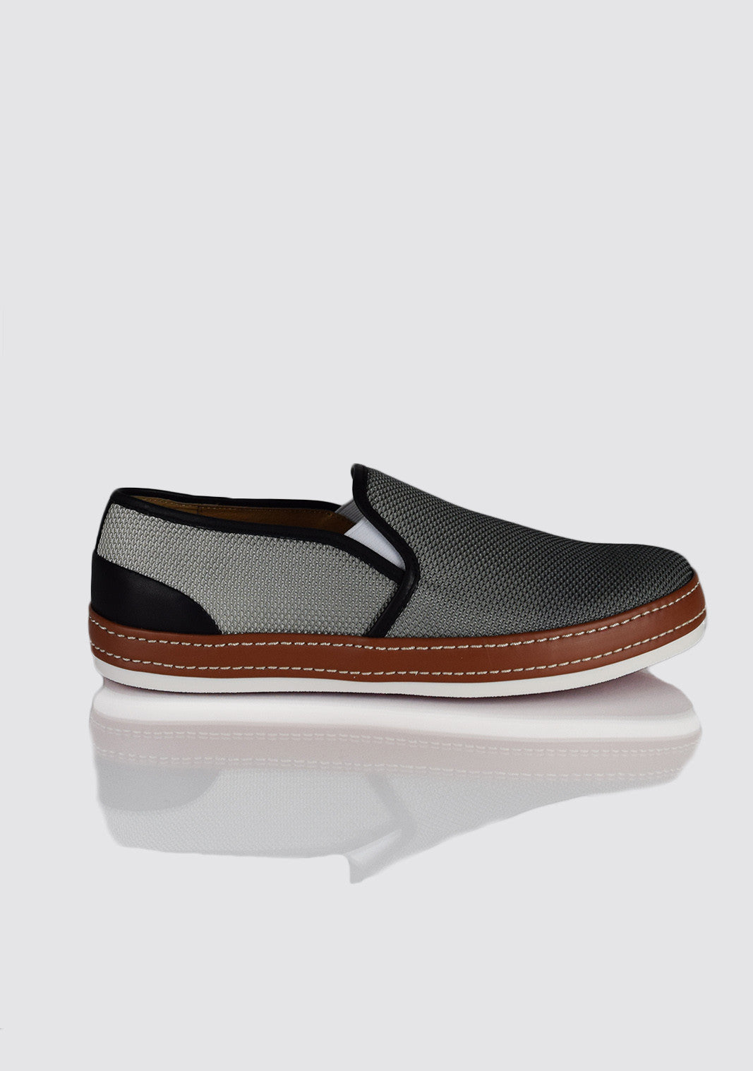 Donald Pliner Grey Slip-On Shoe
