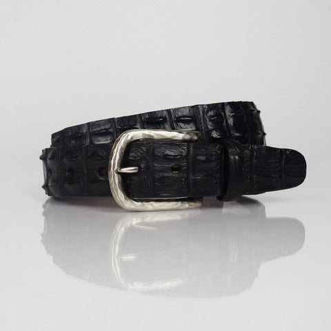 Torino crocodile black belt