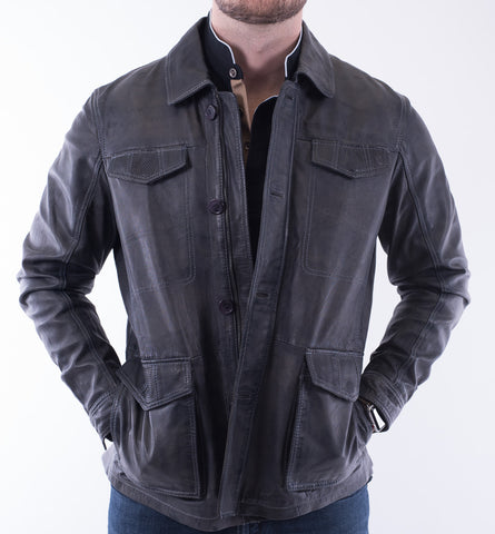 Alberto Zimni Leather Jacket