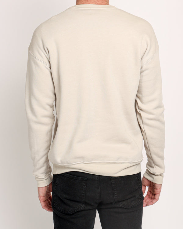 Drop Shoulder Fleece in Sand