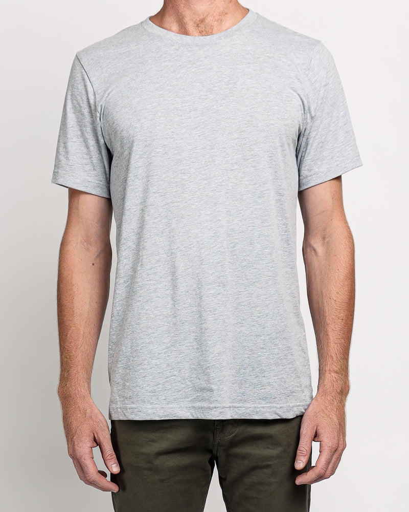 Crew Neck Tee in Athletic Heather