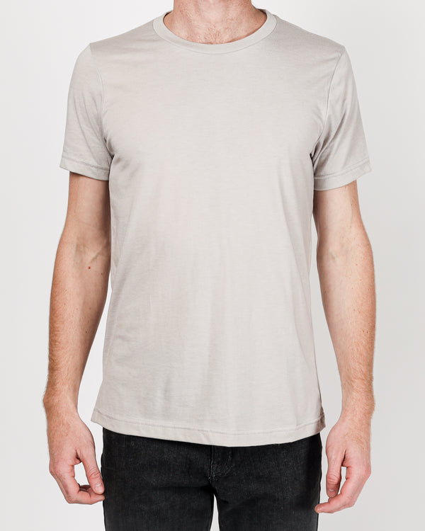 Crew neck Tee in Light Grey