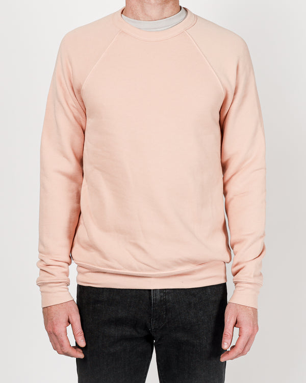 Raglan Sleeve Fleece in Heather Peach