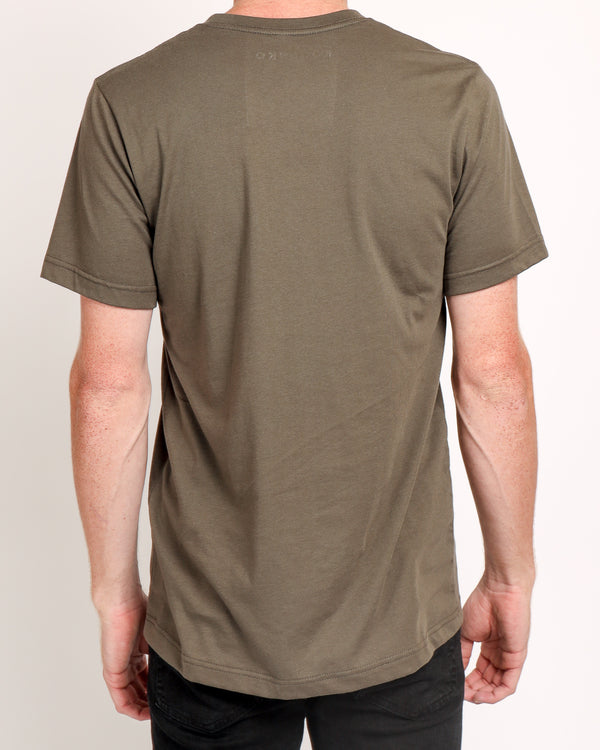 Crew neck Tee in Army