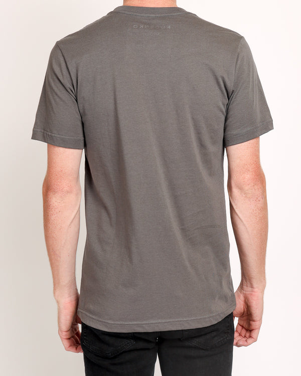 Crew neck Tee in Asphalt
