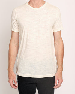 Crew Neck Tee in Natural Slub
