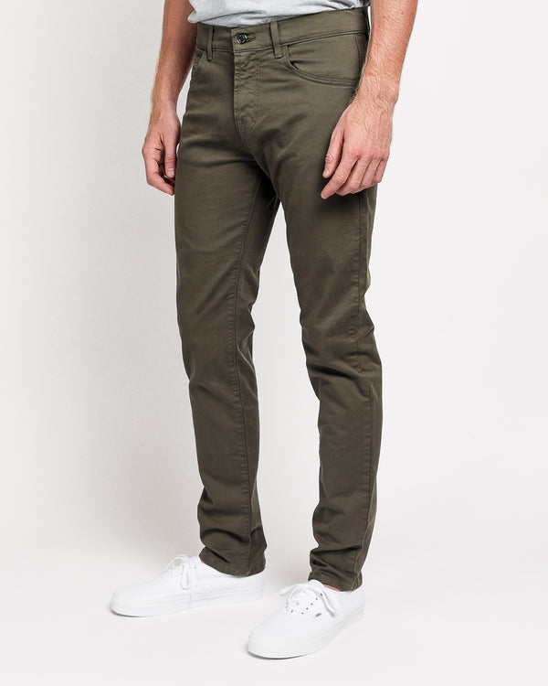 The Leo Slim Fit in Italian Twill - Forest Green