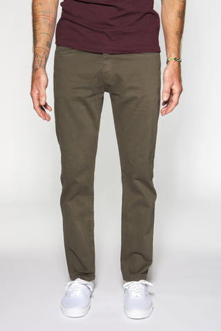 5 - Pocket Garment-Dyed Italian Twill in Army - ON SALE