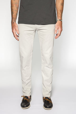 5- Pocket Garment-Dyed Italian Twill in Dove Gray - ON SALE