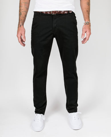 Trouser Pant Garment-Dyed in Black