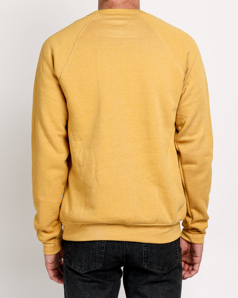 Raglan Sleeve Fleece in Heather Mustard