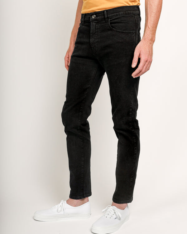 The Leo Slim jeans in Italian Denim - Black