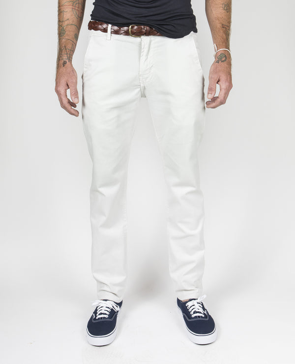 Trouser Pant Garment-Dyed in Off White