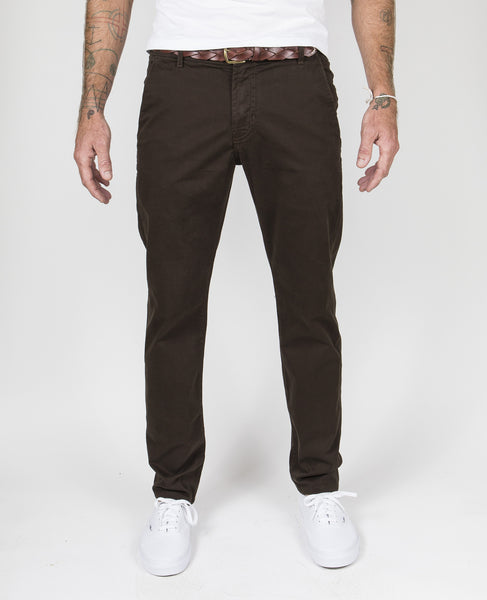 Trouser Pant Garment-Dyed in Dark Olive