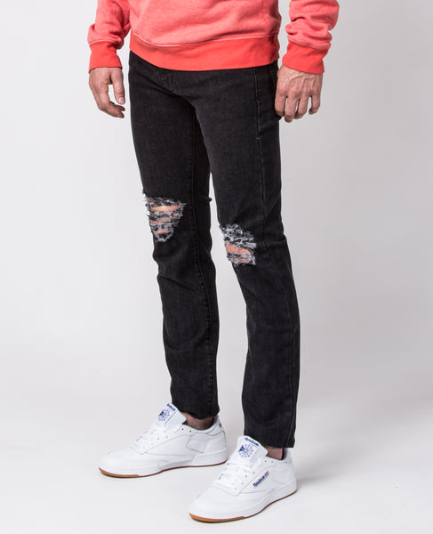 Slim-Fit jeans in Stonewash Ripped Knees
