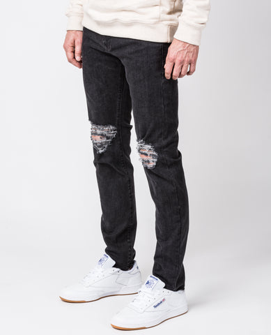 Slim-Fit jeans in Stonewash Raw Hem