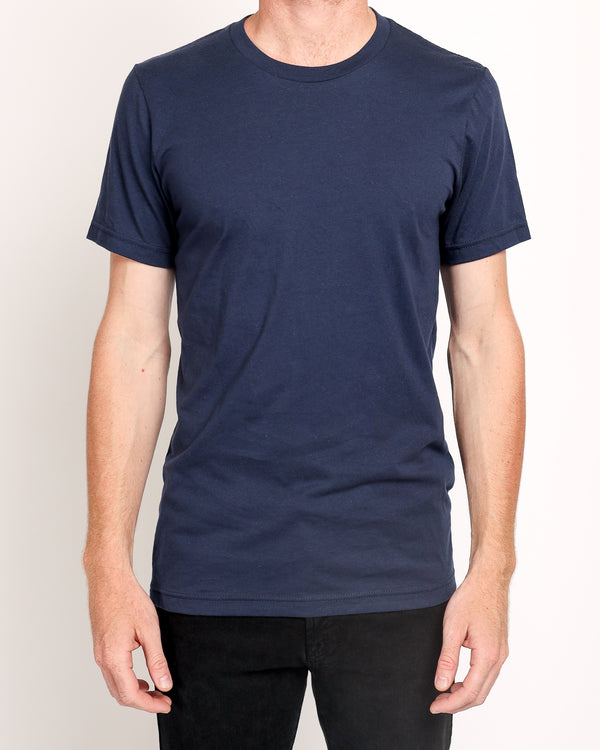 Crew Neck Tee in Navy