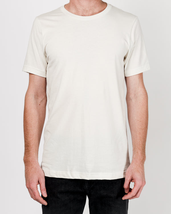 Crew neck Tee in Off White