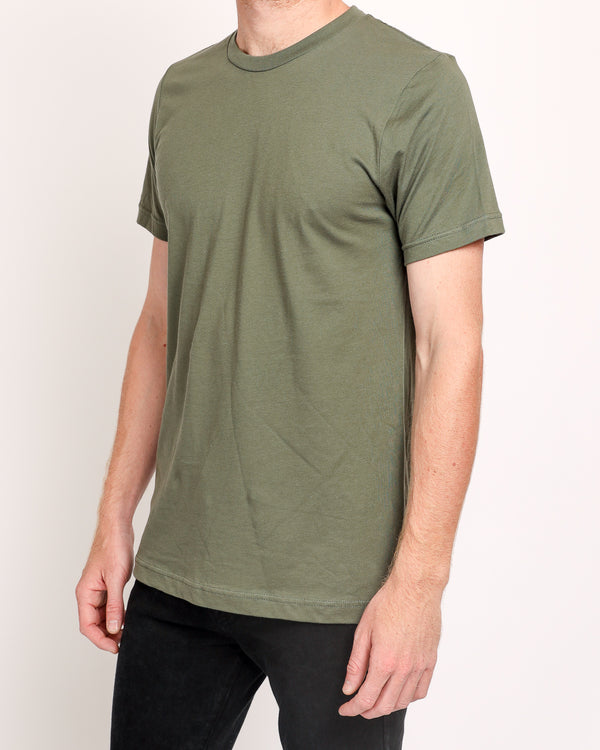 Crew neck Tee in Military Green