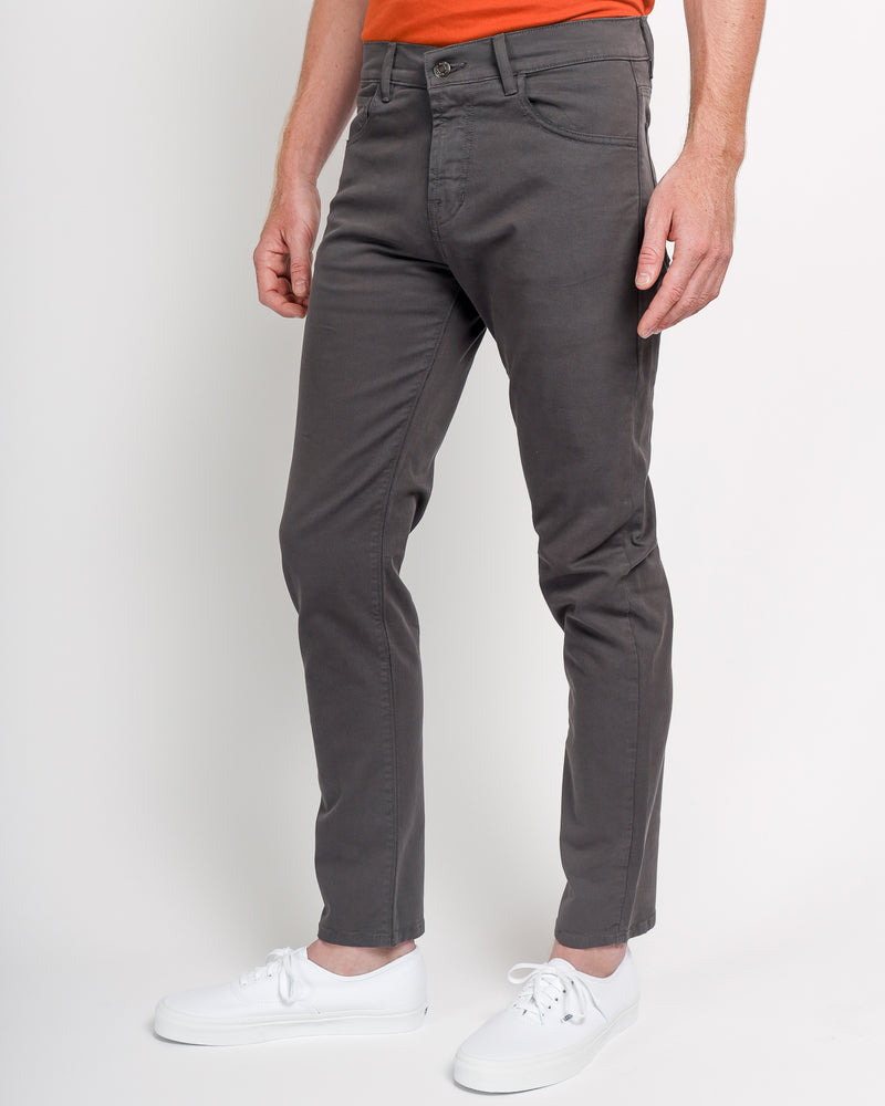 The Leo Slim Fit in Italian Twill - Charcoal