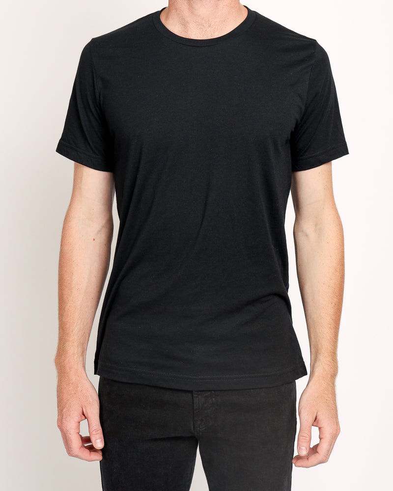 Crew Neck Tee in Black