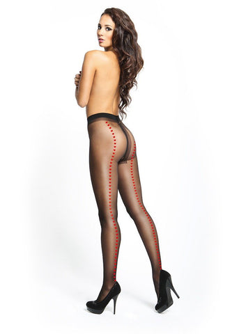 MISSO CROTCHLESS PANTYHOSE With LACE BELT